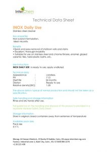 thumbnail of Technical Data Sheet – Inox daily use